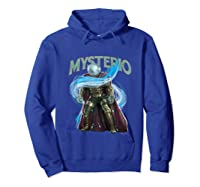 Spider Man Far From Home Mysterio Stance Shirts Hoodie Royal Blue