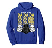 S Darth Vader Imperial March Graphic Shirts Hoodie Royal Blue