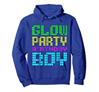 Glow Party Birthday Boy Party Gift Neon Retro Shirts Hoodie Royal Blue