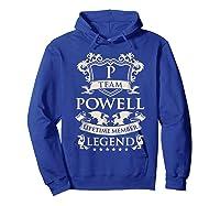 Team Powell Last Name Gifts Vintage Legend Family Tshirt Hoodie Royal Blue