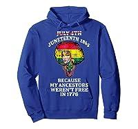 Ancestors Black African American Flag T Shirt Hoodie Royal Blue