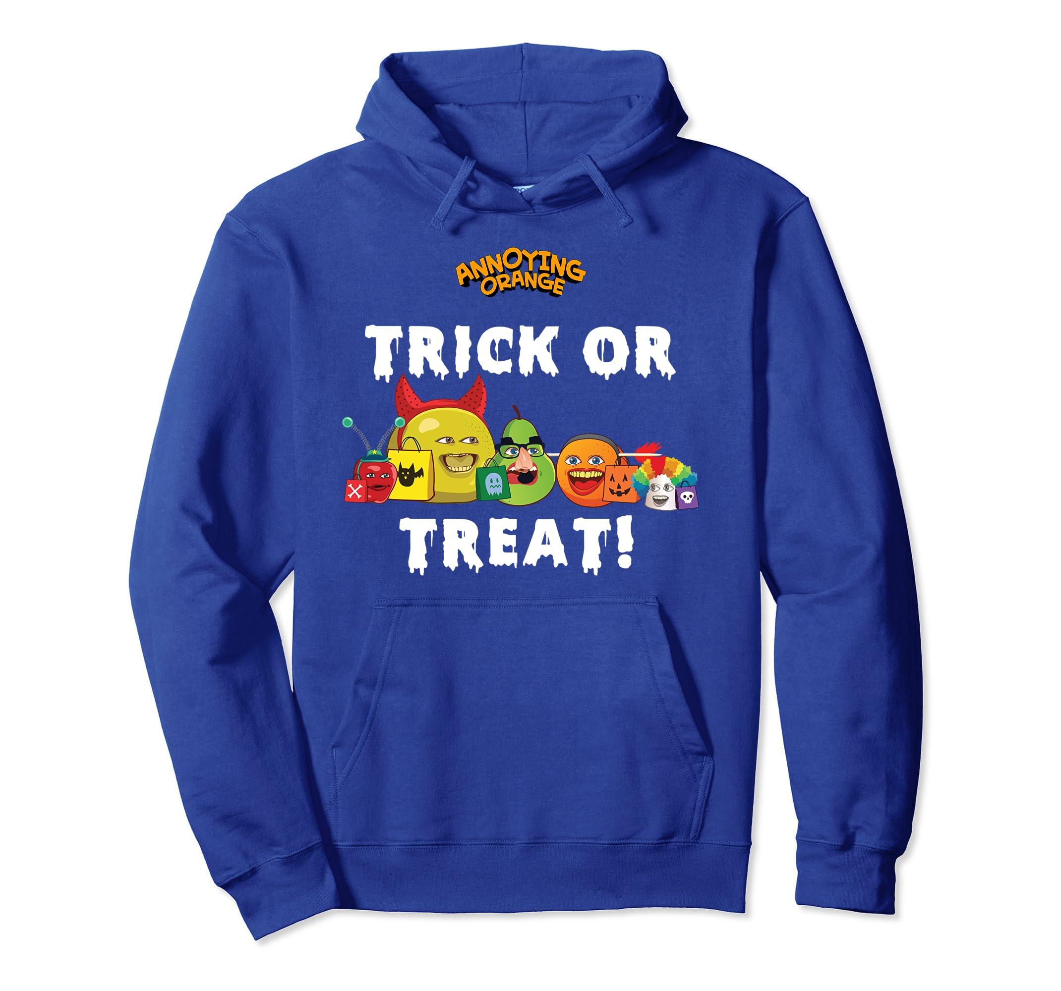 Annoying Orange Trick or Treat Halloween Pullover Hoodie- TPT
