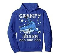 Grampy Shark Shirt Fathers Day Gift T-shirt Hoodie Royal Blue