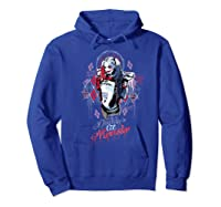 Suicide Squad Harley Quinn Bad Girl Shirts Hoodie Royal Blue