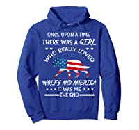 Once Upon A Time Wolf America 4th Of July T Shirt Gifts Hoodie Royal Blue