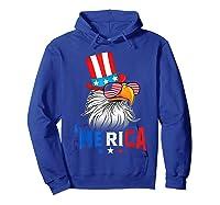 'merica Bald Eagle Sunglasses Flag Uncle Sam 4th Of July Shirts Hoodie Royal Blue