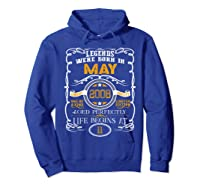 May 2008 11th Birthday Gift 11 Years Old For Shirts Hoodie Royal Blue