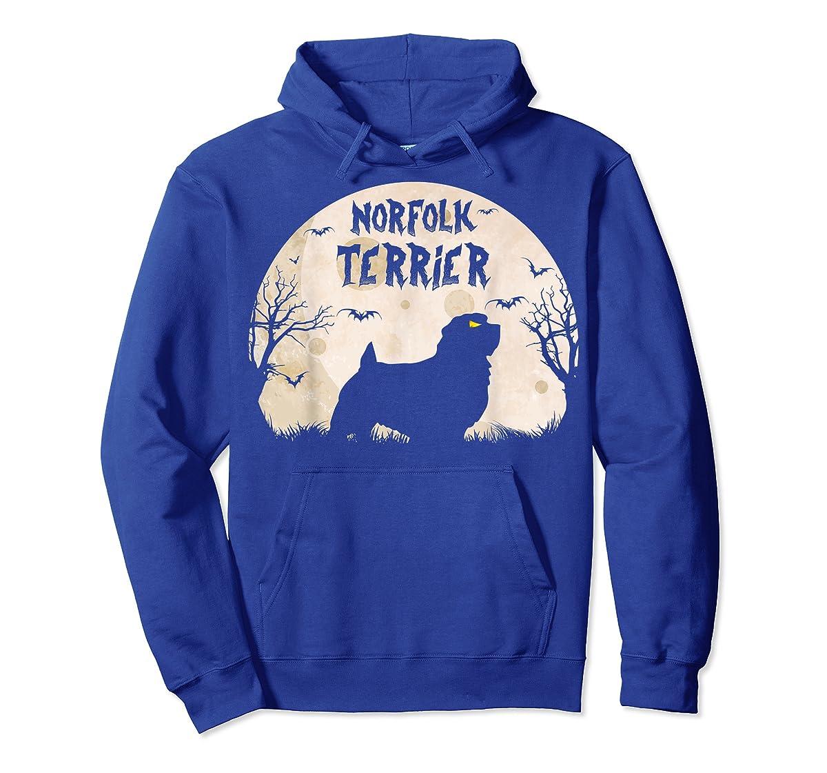 Halloween Horror Norfolk Terrier T-Shirt-Hoodie-Royal