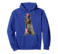 Wirehaired Pointing Griffon 4th Of July Dog In Top Hat Shirts Hoodie Royal Blue