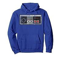 Nintendo Nes Controller Retro Vintage Graphic Shirts Hoodie Royal Blue