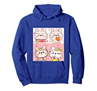 Super Cute Silly Rabbit Love Story Unisex Humor T Shirt Hoodie Royal Blue