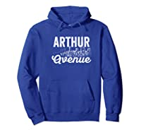 Arthur Avenue New York City Street Sign T Shirt Hoodie Royal Blue