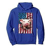 Pig American Flag Gift Funny 4th Of July America Shirts Hoodie Royal Blue