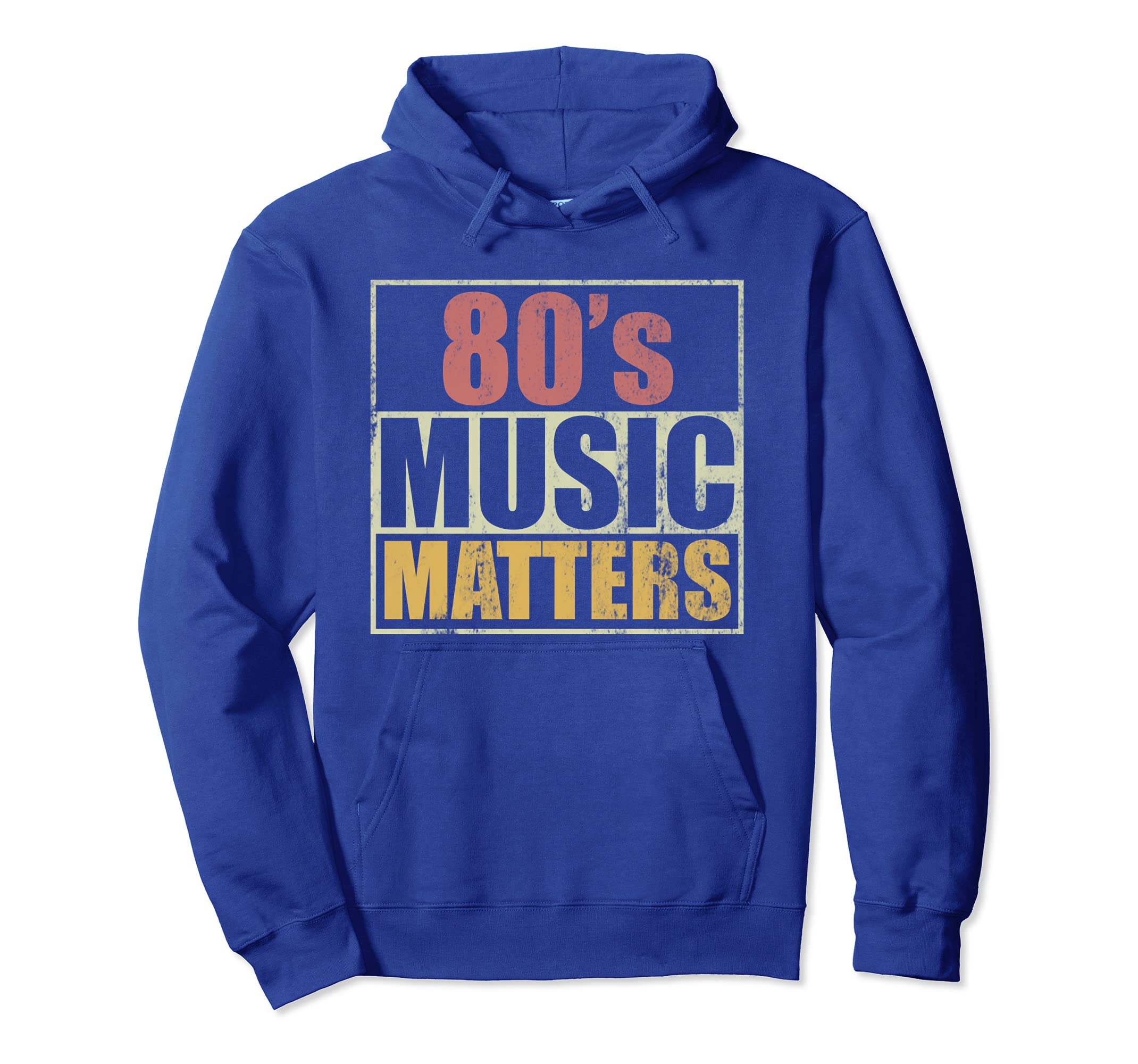 80'S MUSIC MATTERS VINTAGE RETRO PULLOVER HOODIE
