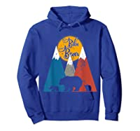 Cute Twin Bibi Bear Two Cubs Little Bears Shirts Hoodie Royal Blue