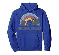 The Lion King Hakuna Matata Distressed Rainbow Logo Shirts Hoodie Royal Blue