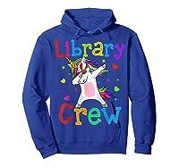 Library Crew Dabbing Unicorn 1st Day Of School Shirts Hoodie Royal Blue