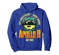 Apollo 11 50th Anniversary Shirts Hoodie Royal Blue