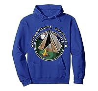 Adventure Seeker T Shirt Camping Outdoor Travel Hoodie Royal Blue