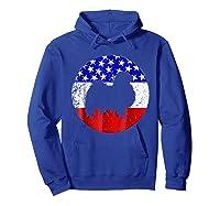 American Flag Japanese Chin Japanese Chin Dog Shirts Hoodie Royal Blue