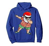 Dabbing Santa Christmas In July Hawaiian Shirt Gift Hoodie Royal Blue