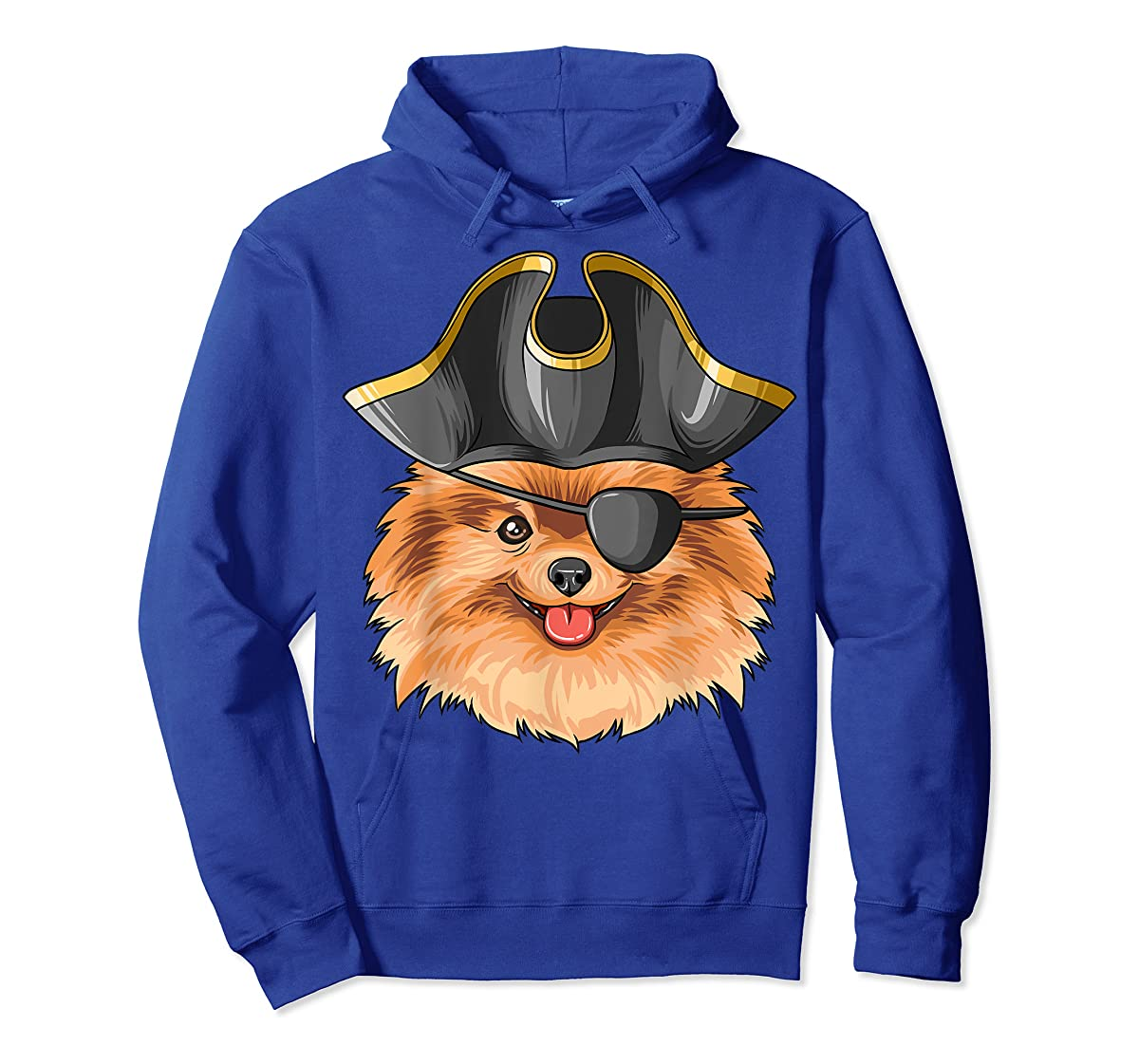 Pirate Pomeranian Pirates Hat Pomeranian T-Shirt-Hoodie-Royal
