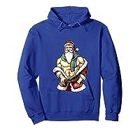 Gay Pride Month Santa Lgbtqqiaap Christmas Rainbow Holiday Shirts Hoodie Royal Blue