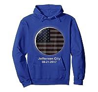 Solar Eclipse Shirt Jefferson City Mo American Flag Hoodie Royal Blue