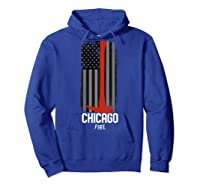 City Of Chicago Fire Departt Illinois Firefighter T-shirt Hoodie Royal Blue