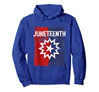 Junenth Black American African History Freedom Day Shirts Hoodie Royal Blue