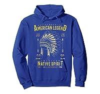 Native American Warrior, Indian Native Spirit Shirts Hoodie Royal Blue