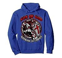 Knights Templar Tshirt Son Of God Warrior Of Christ Hoodie Royal Blue