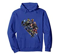 Avengers Endgame Assembled Team Group Shot Logo Shirts Hoodie Royal Blue