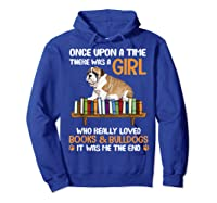 There Was A Girl Loved Book And Bulldogs Tshirt Gifts Hoodie Royal Blue