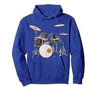 Awesome Drum Set Rock Music Band Shirts Hoodie Royal Blue
