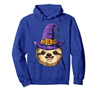 Sloth Witch T Shirt Halloween Girls Funny Costume Hoodie Royal Blue