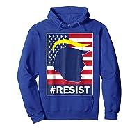 Resist Protest Rebel Political Anti Trump Impeach T Shirt Hoodie Royal Blue