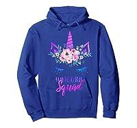Cute Rainbow Unicorn Squad Unicorn For Party Shirts Hoodie Royal Blue