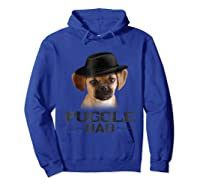 Puggle Dad Funny Father's Day Dog Lovers Gift Shirts Hoodie Royal Blue