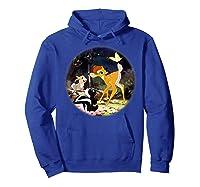 Disney Bambi Forest Scene T Shirt Hoodie Royal Blue