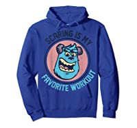 Pixar Monsters University Sulley Face Shirts Hoodie Royal Blue