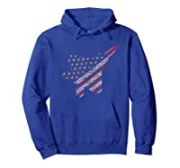 F22 Raptor Airplane Art 4th Of July Flag Patriotic T-shirt Hoodie Royal Blue