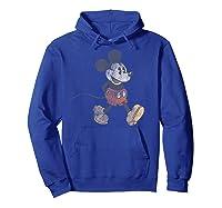 Disney Mickey Mouse Walk T Shirt Hoodie Royal Blue