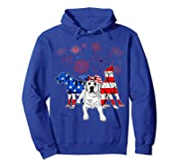 Labrador 4th Of July America Flag Gifts Shirts Hoodie Royal Blue
