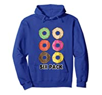 Funny Donut Six Pack Muscle T Shirt Hoodie Royal Blue