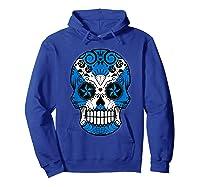 Scottish Flag Sugar Skull Shirts Hoodie Royal Blue