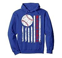 American Flag Baseball | July 4th Usa Flag Patriotic Design T-shirt Hoodie Royal Blue