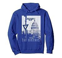 Vintage Washington Dc District Of Columbia T Shirt Hoodie Royal Blue