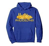 Philadelphia City Skyline Travel Souvenir Gift T Shirts Hoodie Royal Blue