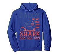 American Flag Daddy Shark Doo Doo Doo 4th Of July Shirts Hoodie Royal Blue